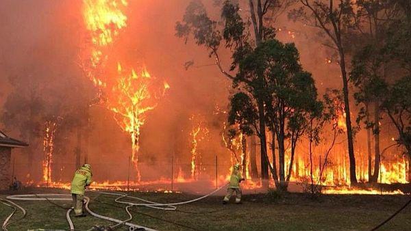 Imagini apocaliptice din Australia cuprinsa de flacari
